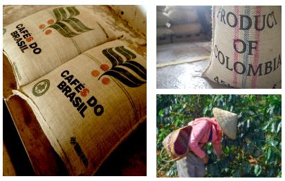 Café no Brasil, na Colômbia e no Vietnã