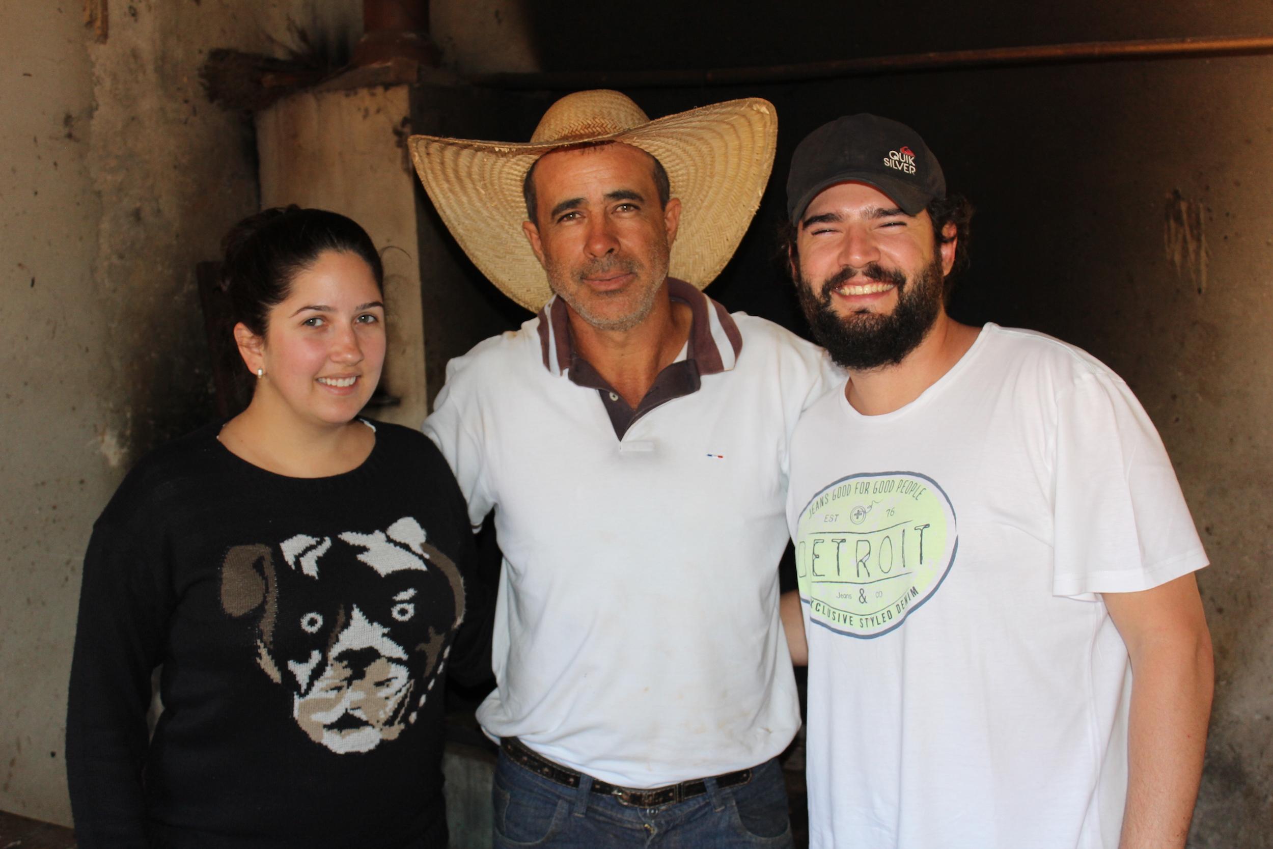 Débora, Sr. Donizetti Araújo (Fazenda Seixal) e Sérgio