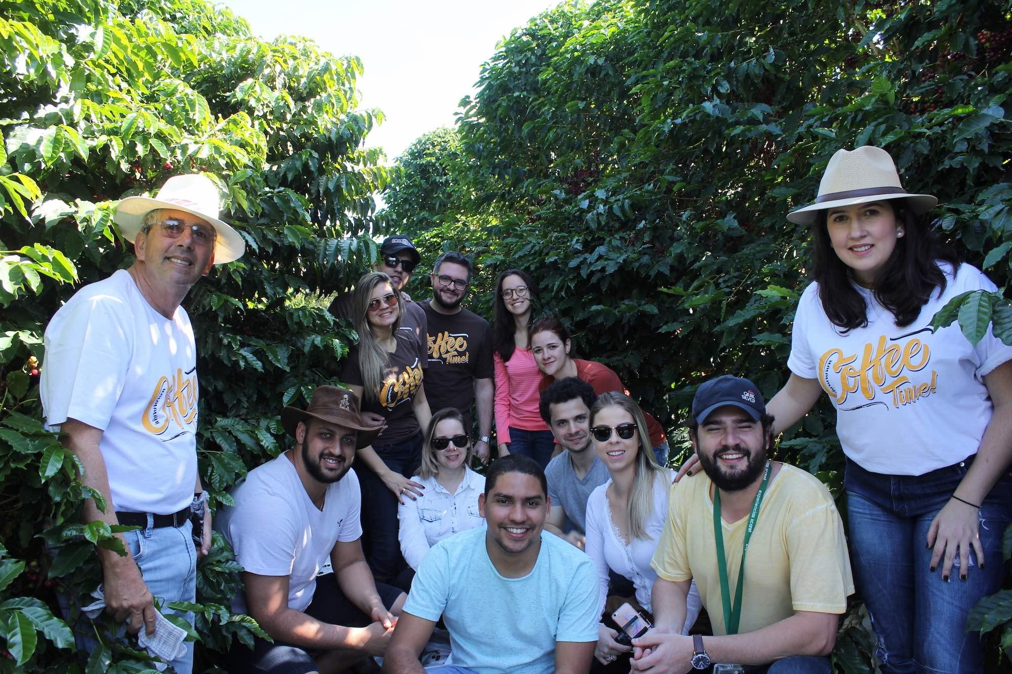 Todos os participantes da visita da Fazenda Recanto