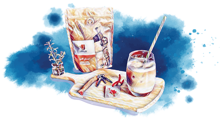 Feito à Mão, o Mimo de Abril é o Chaveiro de Macramê feito por uma Assinante Coffee & Joy
