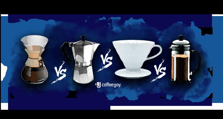 Diferença do Café Preparado na V60, Chemex, Prensa Francesa, Cafeteira Italiana