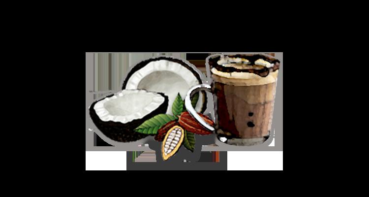 Receita Cremosa de Café com Leite de Coco, Cacau e Chocolate