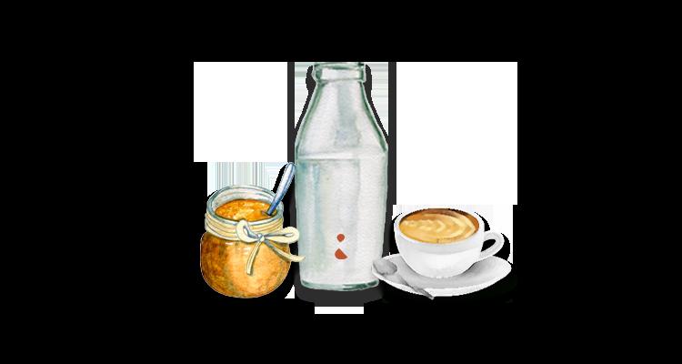 Receita de Café com Leite e Doce de Leite