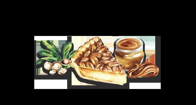 Receita de Torta para o Natal com Macadâmia, Caramelo de Café e massa de Granola