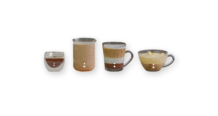 4 Receitas Clássicas de Cafeteria para Fazer em Casa Macchiato, Latte, Mocha e Affogato